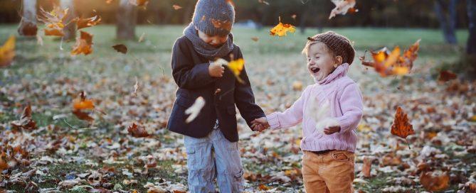 I bambini all'aria aperta anche d'inverno