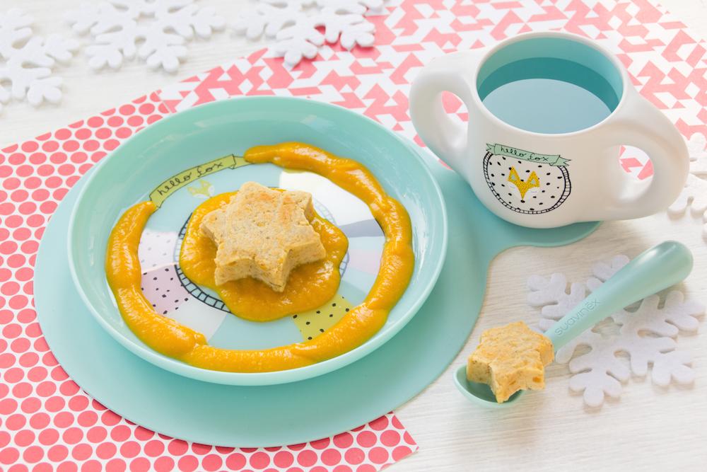 Ricettine golose: Polpettine di capodanno su gazpacho arancione