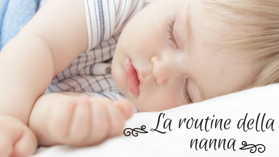 La routine della nanna con i bambini